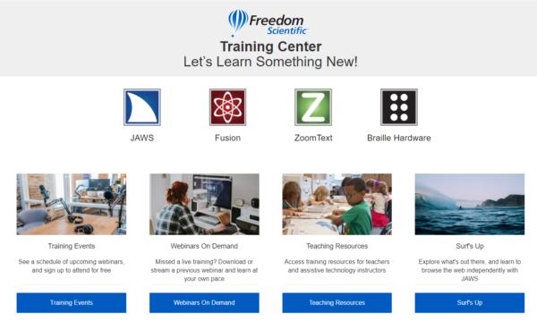 freedom scientific training center